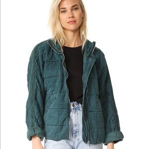 NEW free people quilted dolman jacket